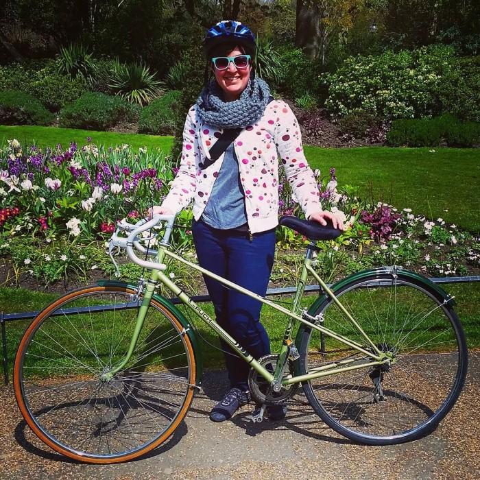 Ellen with her new bike