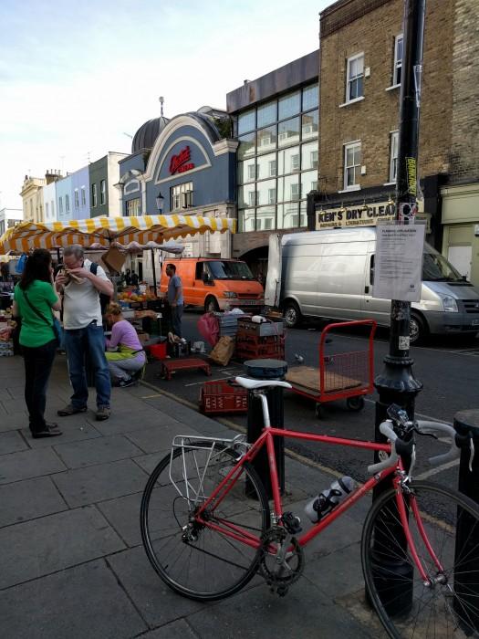 Cycling through Portobello Road