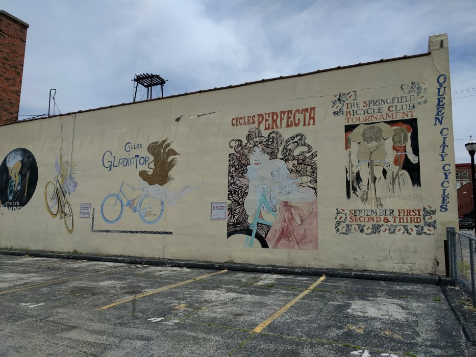 Cycling mural in springfield mo queen city cycles