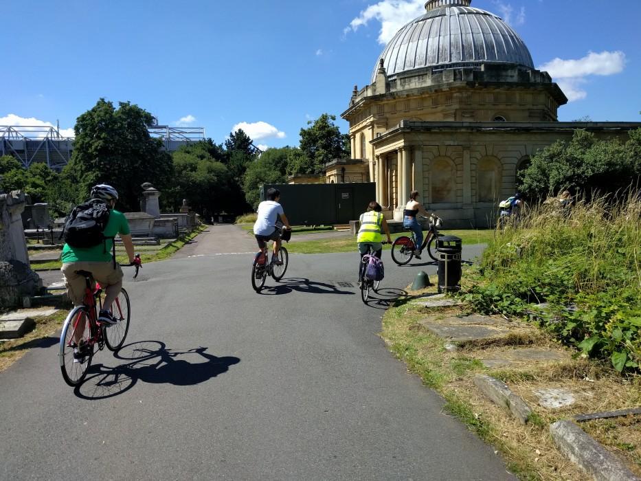 cycling through brompton cemetery